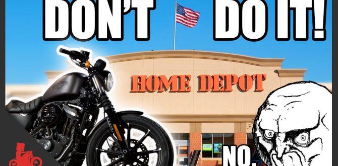 Harley + Home Depot = BAD! - Harley Iron 883