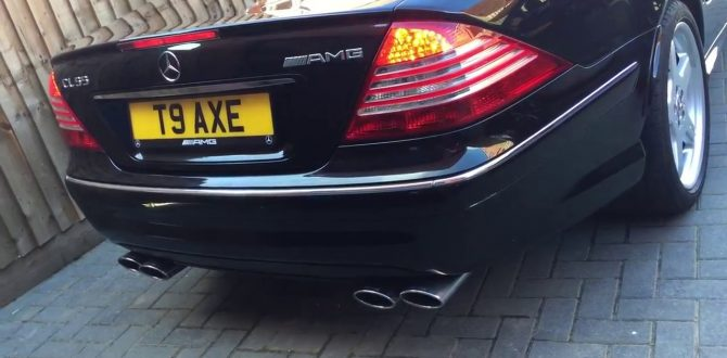 CL55 AMG Mercedes Exhaust Start Up