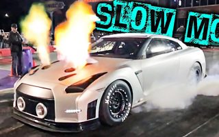 Slow Mo - FIRE, BURNOUTS & TIRE WRINKLE