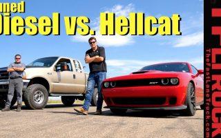 Drag Race: Rolling Coal Super Duty vs Supercharged HEMI Hellcat