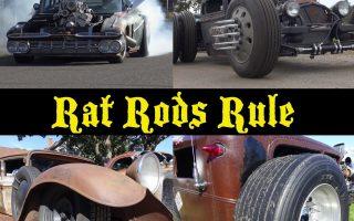 Rat Rods Rule: Cummins Turbo Diesel; Bagged; Blown 800 HP; Twin Turbo Diesel, Chopped