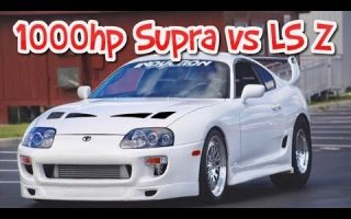 1000hp Supra Turbo Mexico street race vs Turbo LS swapped Z