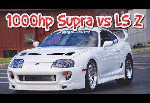 1000hp Supra Turbo Mexico street race vs Turbo LS swapped Z