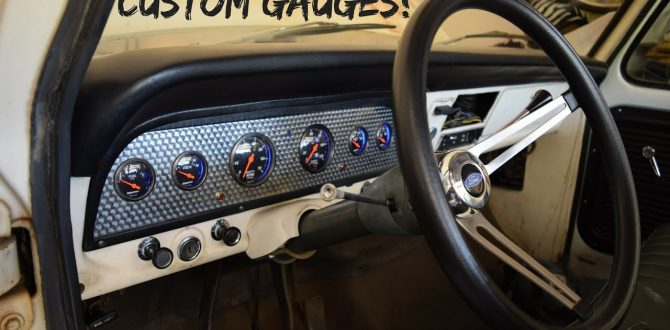 The F100 Gets Custom Gauges and a New Dash!