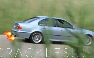 BMW E39 M5 Exhaust Sound - AMAZING CRACKLES!