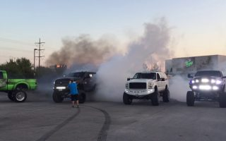 Gas Monkey In: 20 - Diesel Truck Burnouts at Gas Monkey Live
