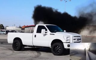 700HP TWIN TURBO MONSTER!! Powerstroke MOBBING on the streets!!