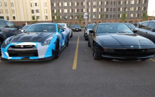 BMW 850csi and AMS Tuned Nissan GT-R in Chicago