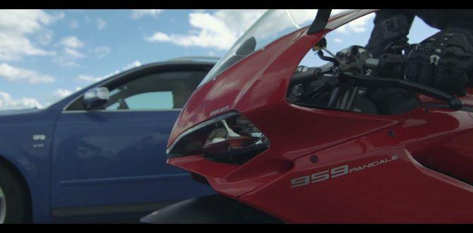 Ducati 959 Panigale Vs Audi S4 Bike Vs Car Sprintrace Short