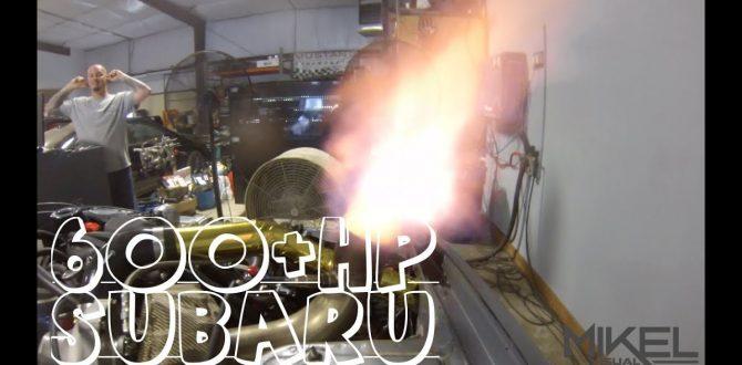 Flame Spitting Subaru STI Makes 600+hp