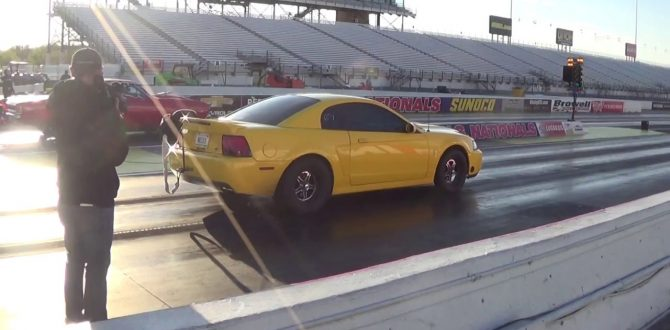 8 second twin turbo Mustang Cobra drag racing Indy 2017
