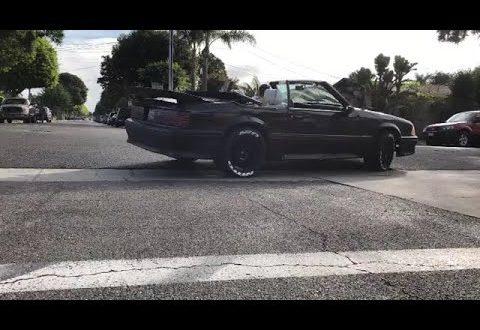 1990 Mustang Foxbody GT Convertible donuts