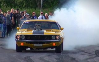BADASS Tire Smoking Supercharged 1970 Dodge Challenger!
