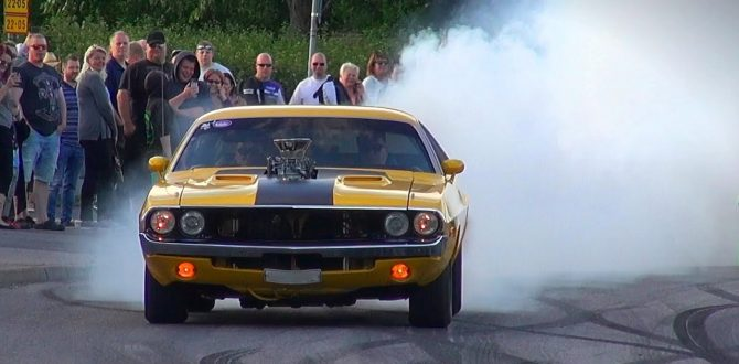 BADASS Tire Smoking Supercharged 1970 Dodge Challenger!
