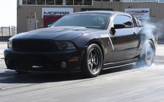 Supercharged Roush Mustang Hits mid 9's