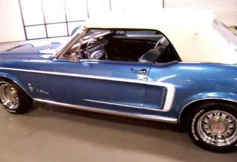 1968 Ford Mustang Convertible Acapulco Blue FOR SALE NOW