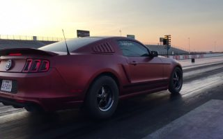700hp v6 Mustang Shake Down Pass