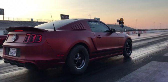 700hp v6 Mustang Shake Down Pass