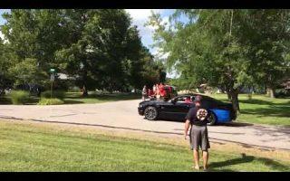2014 Mustang GT Gender Reveal Burnout