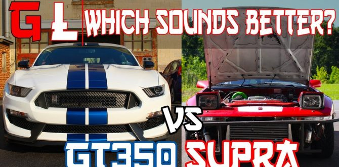 Shelby GT350 vs 1JZ Supra Which Sounds Better? s550 mustang shelby gt350 exhaust clip