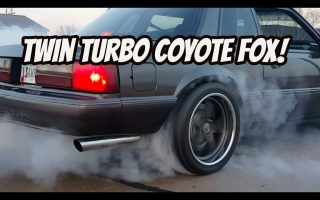 *Twin turbo coyote fox* Burnouts & street pulls!