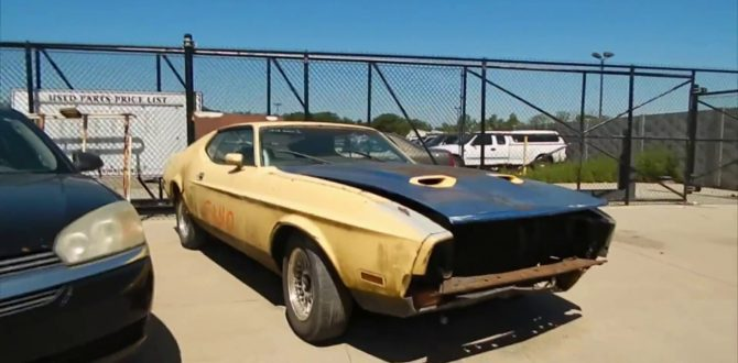 Junk Yard Finds 1972 Ford Mustang Mach 1 Motorgazette