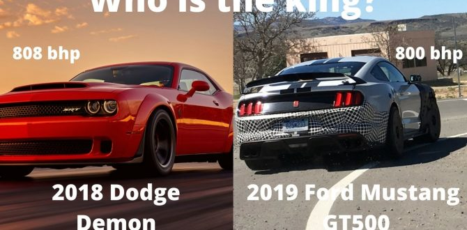 The Ultimate Muscle Car 2018 Dodge Demon Vs 2019 Ford Mustang